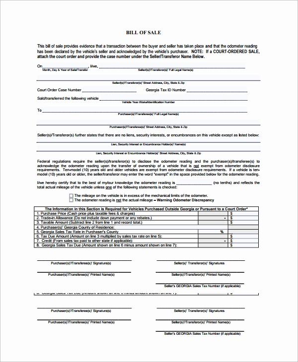 Bill Of Sale for Motorcycle Best Of 8 Motorcycle Bill Of Sale Templates