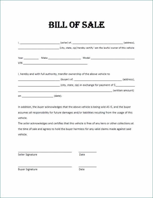 Bill Of Sale for Motorcycle Unique Free Motorcycle Bill Sale Pdf