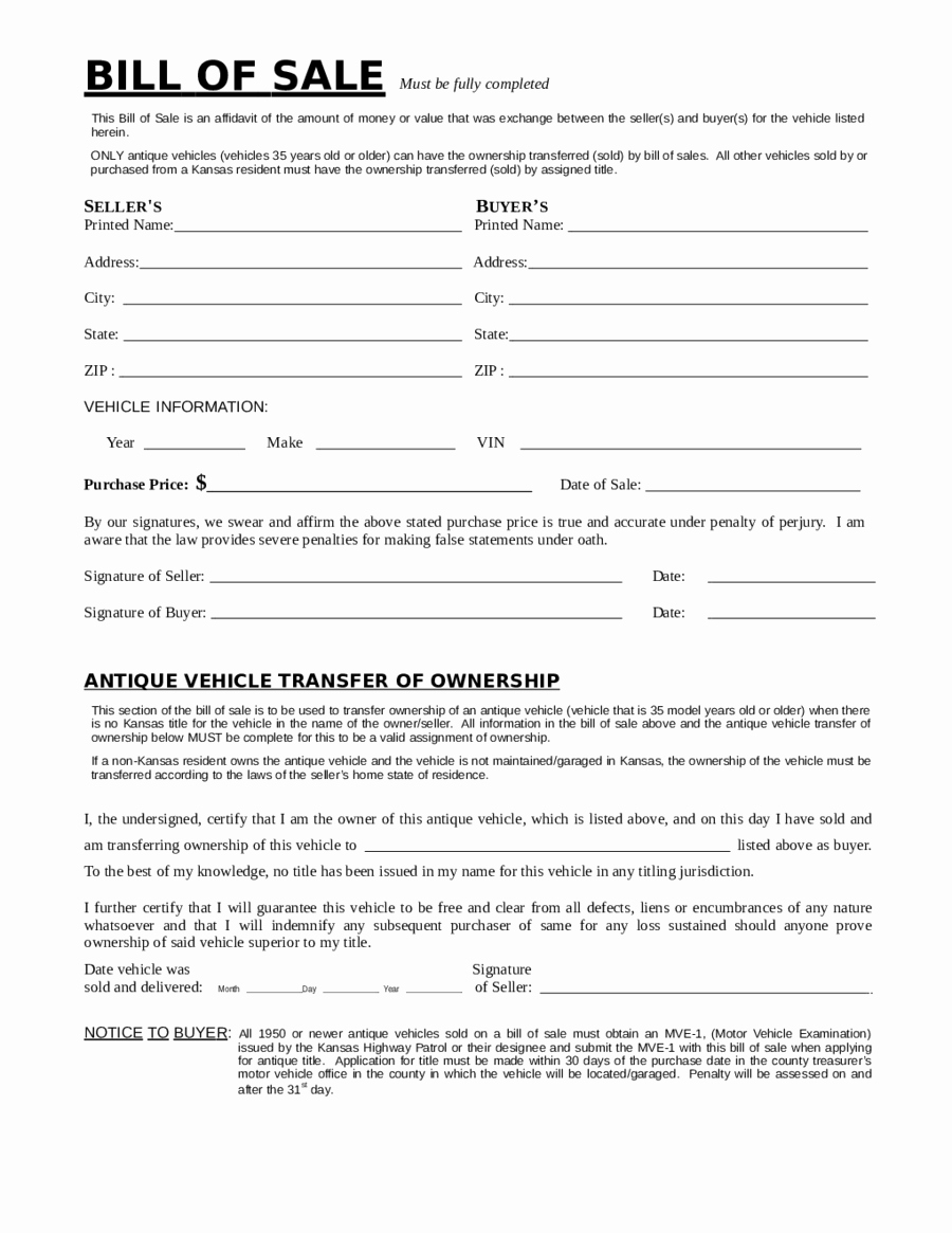 Bill Of Sale form Pdf Awesome 2018 Dmv Bill Of Sale form Fillable Printable Pdf