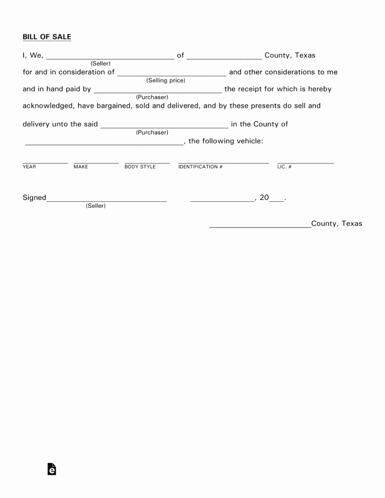 Bill Of Sale Texas Pdf Best Of Free Texas Motor Vehicle Bill Of Sale form Pdf