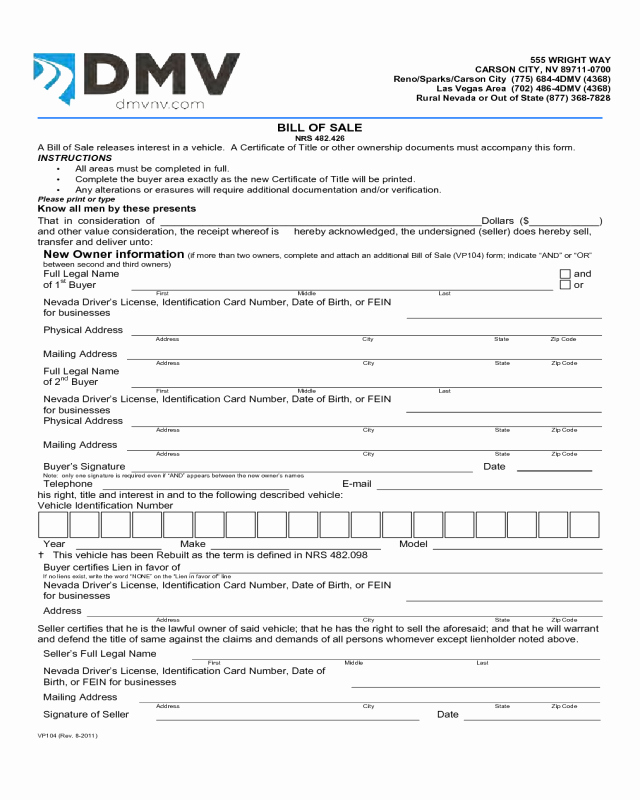 Bill Of Sale Texas Pdf New 2018 Dmv Bill Of Sale form Fillable Printable Pdf