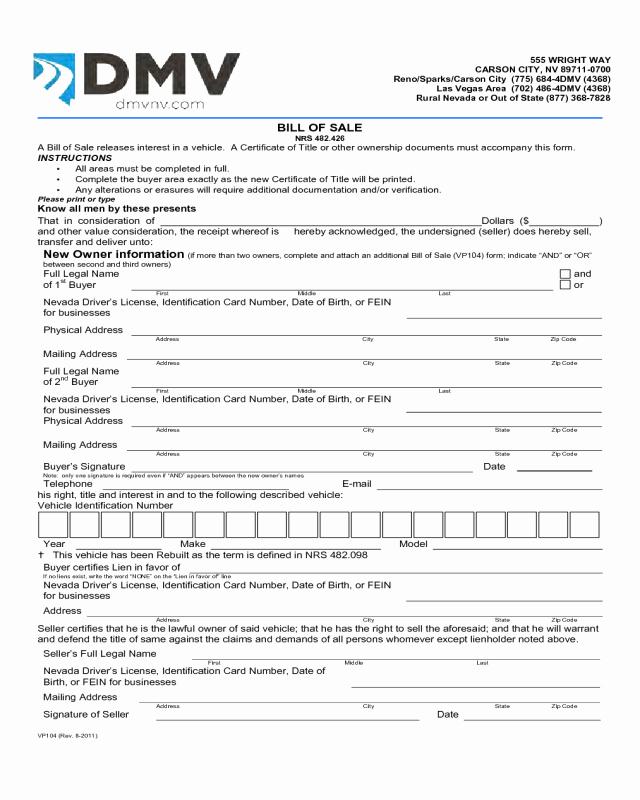 Bill Of Sale Texas Pdf New 2018 Dmv Bill Of Sale form Fillable Printable Pdf