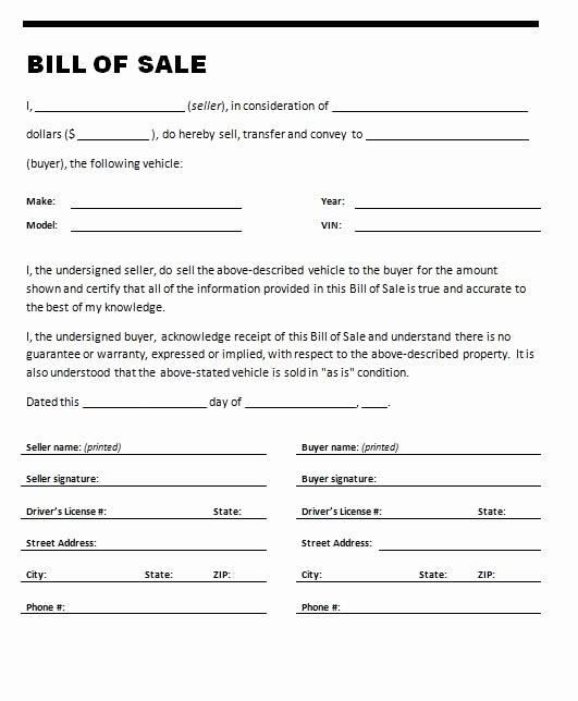 Bill Of Sale Trailer Unique Printable Sample Printable Bill Of Sale for Travel Trailer