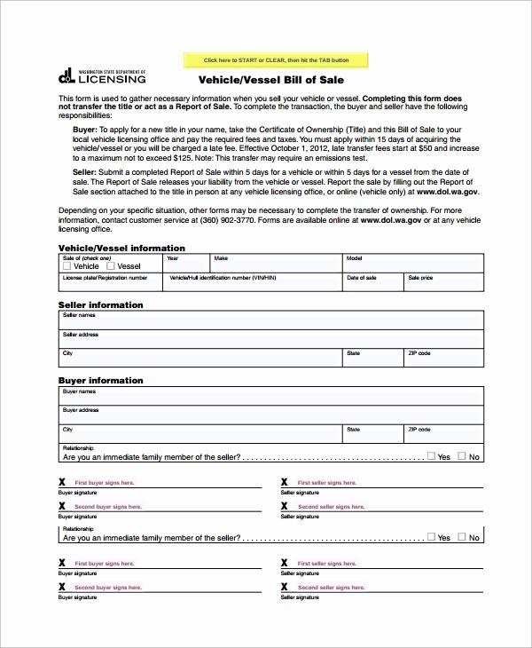 Bill Of Sales Motorcycle Elegant Sample Motorcycle Bill Of Sale 7 Free Documents