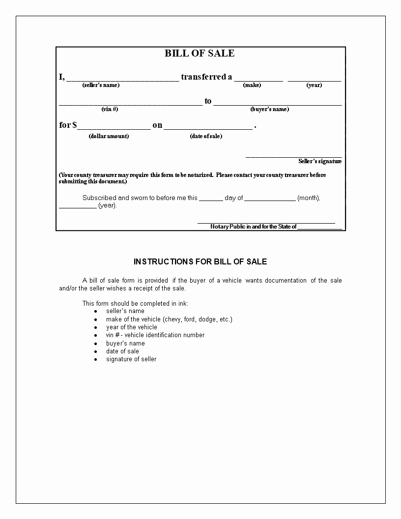 Bill Of Sales Motorcycle Lovely Free Generic Bill Of Sale for Motorcycle