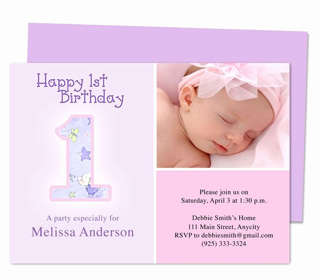 Birthday Invitation Templates Word Awesome Dainty 1st Birthday Invitations Templates Printable Diy