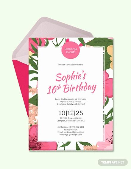 Birthday Invitation Templates Word Best Of Free Birthday Party Invitation Card Template Download 513