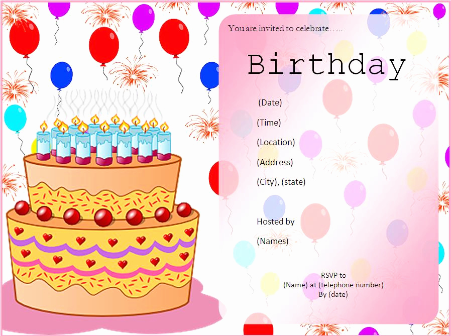 Birthday Invitation Templates Word Elegant 10 Free Birthday Invitation Templates