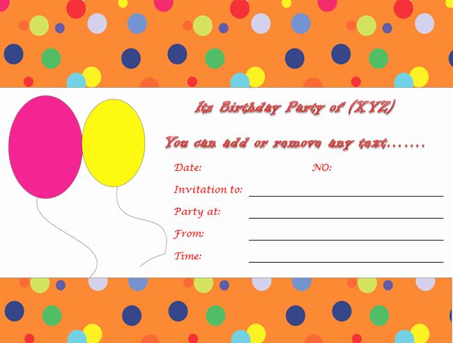 Birthday Invitation Templates Word Elegant Birthday Party Invitations Microsoft Word Templates