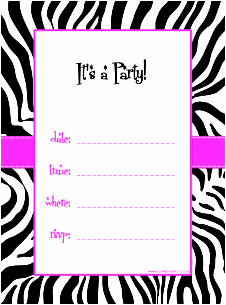 Birthday Invitation Templates Word Fresh 5 Free Party Invitations Templates to Print Auiwu