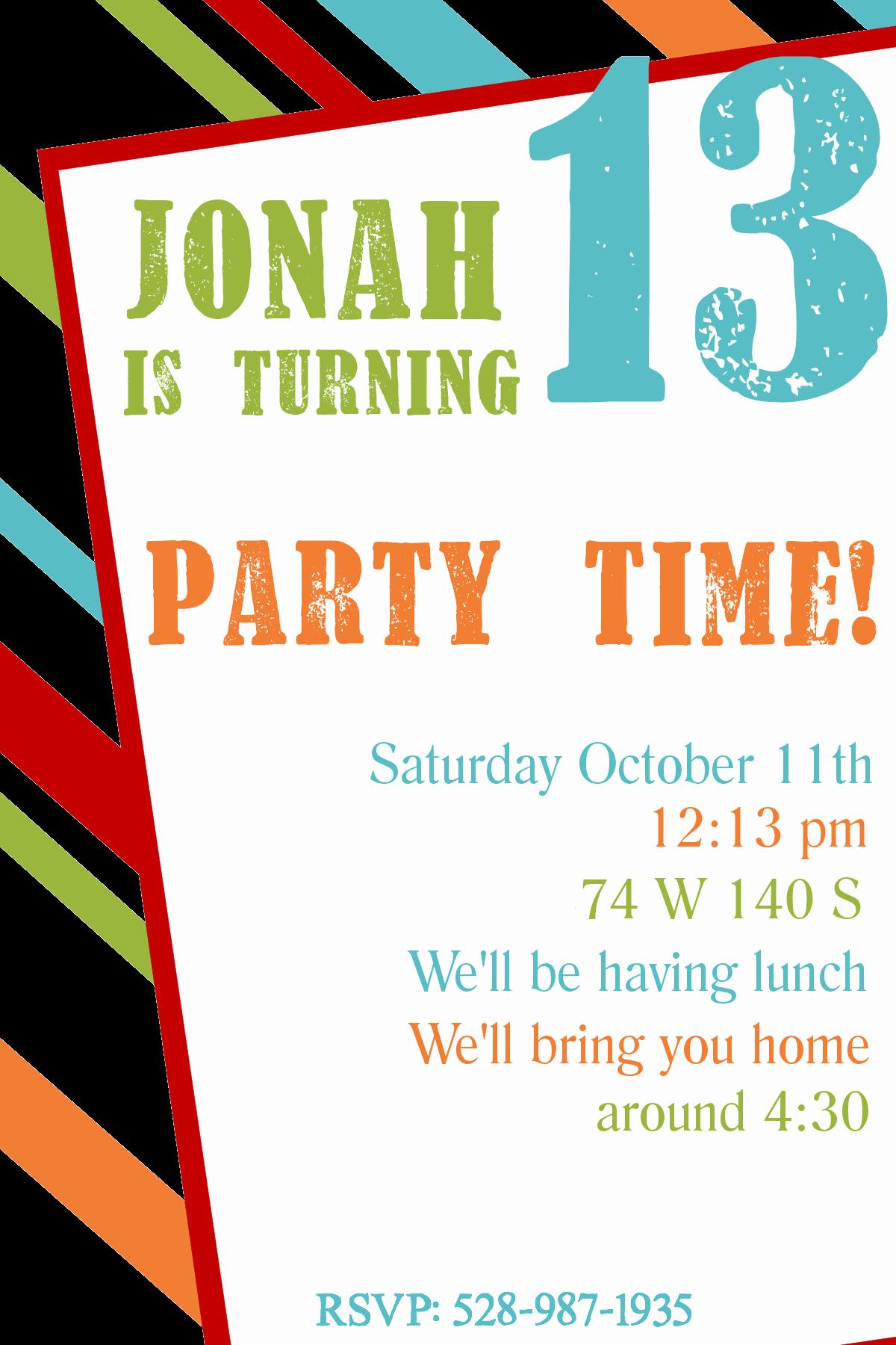 Birthday Invitation Templates Word Fresh Free Printable Birthday Invitation Templates