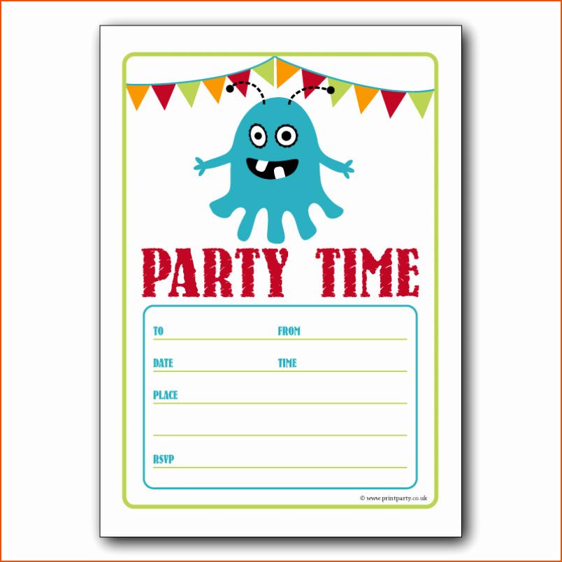 Birthday Invitation Templates Word Lovely 7 Party Invitation Template Word Bookletemplate