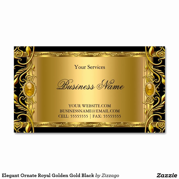 Black and Gold Business Cards Awesome Elegant ornate Royal Golden Gold Black Business Card