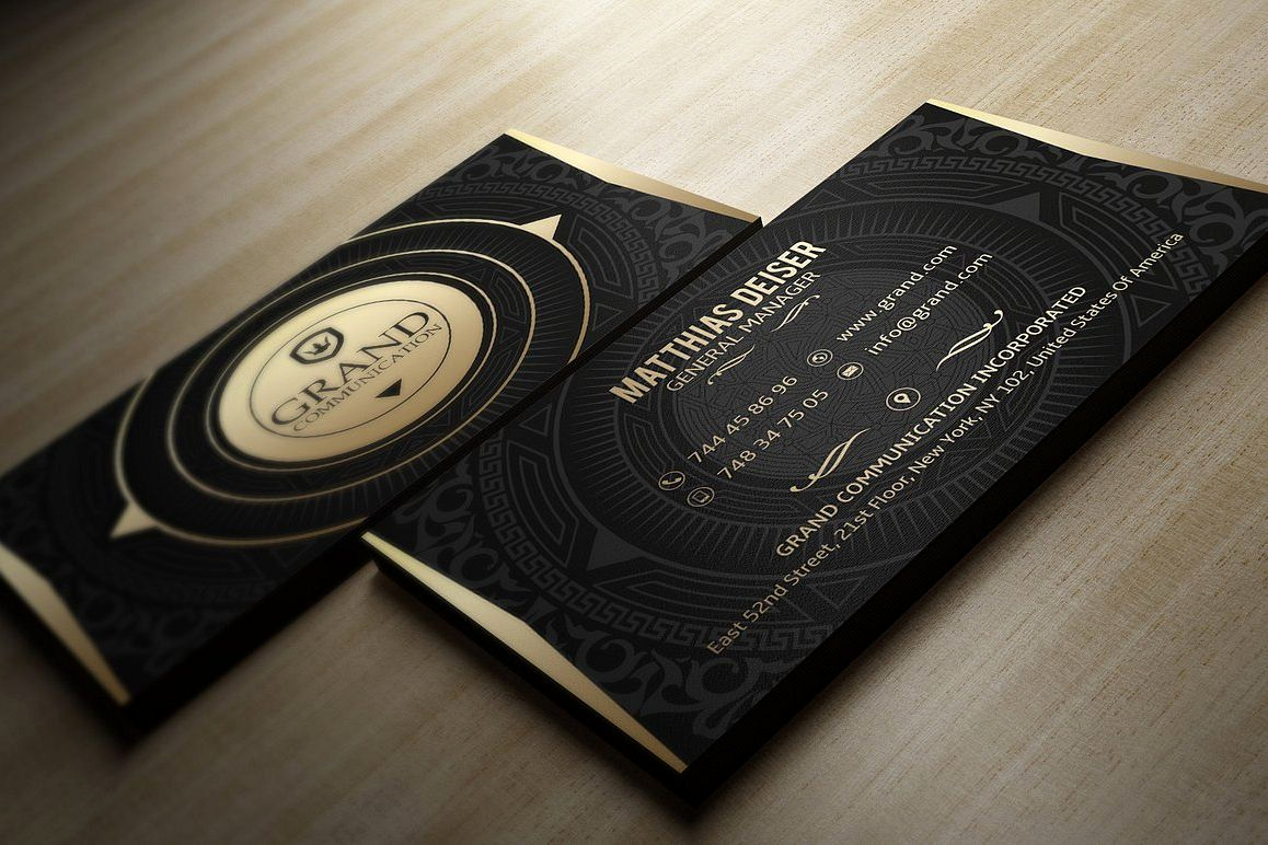 Black and Gold Business Cards Awesome Gold and Black Business Card by Marvel
