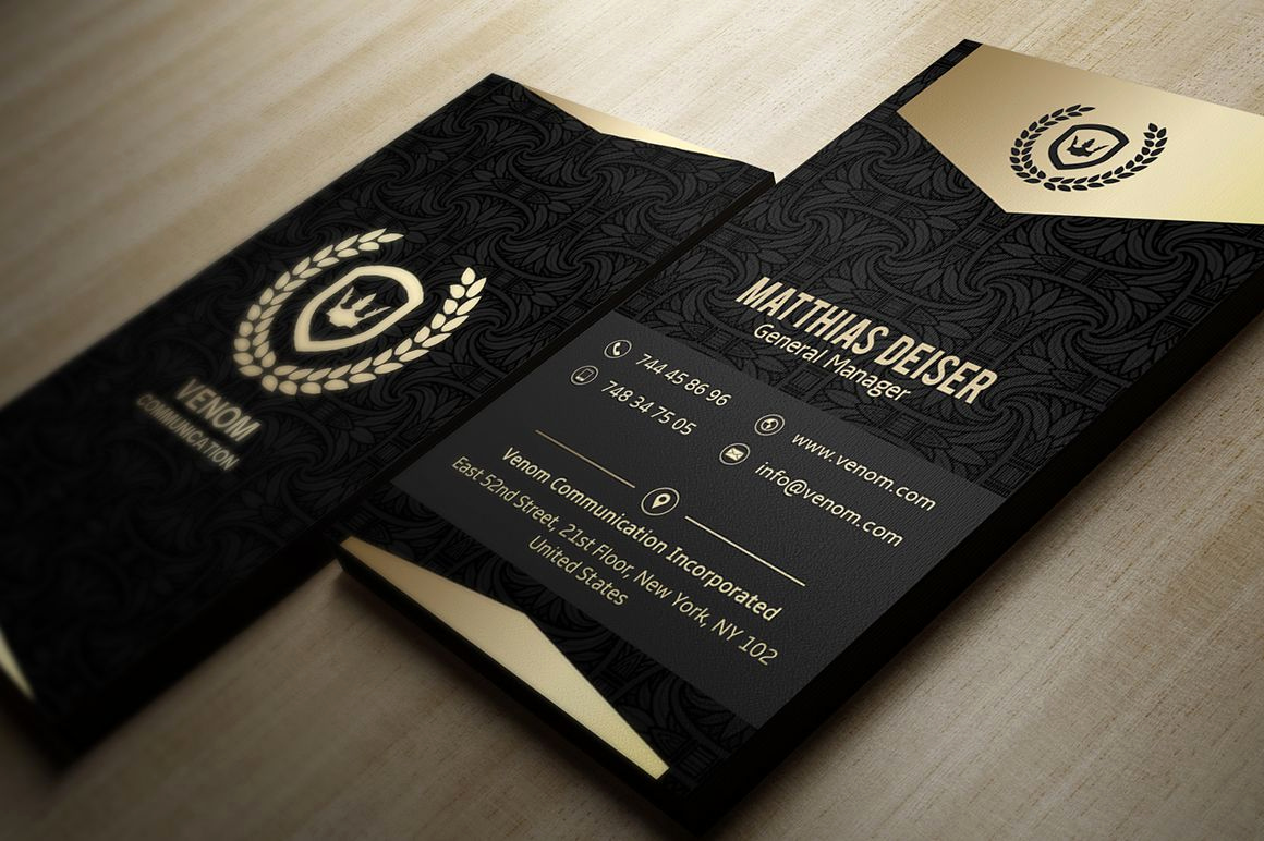 Black and Gold Business Cards Awesome Gold and Black Business Card