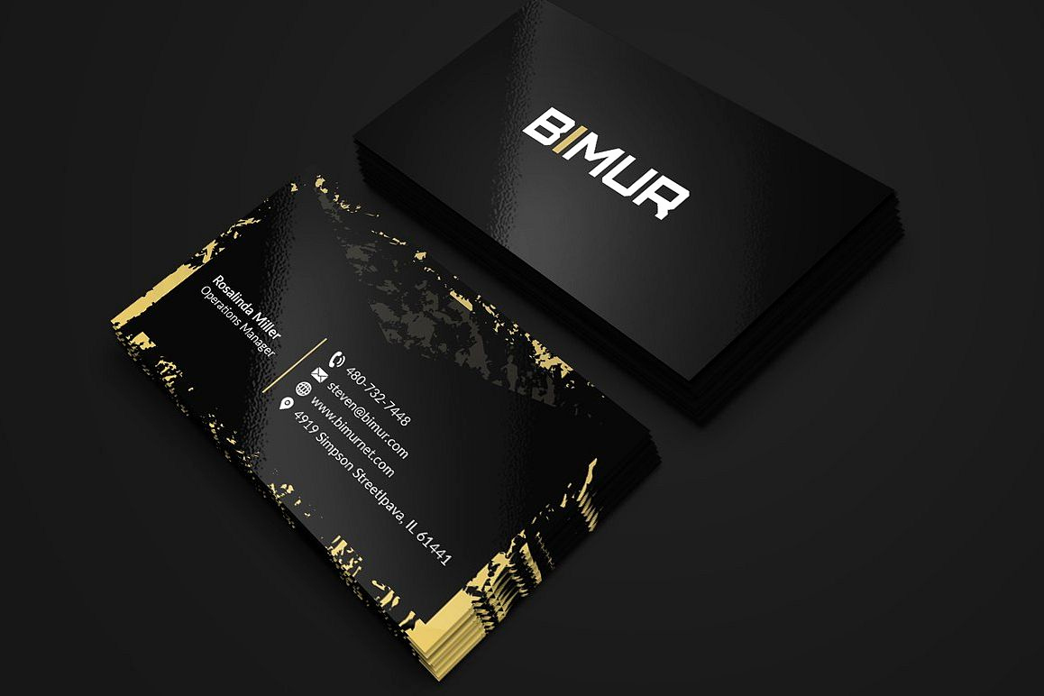 Black and Gold Business Cards Beautiful Black and Gold Business Card 2