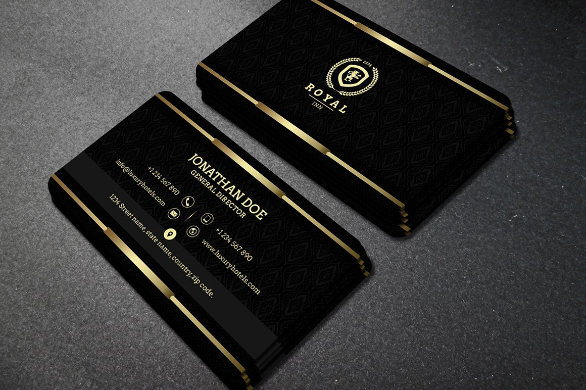Black and Gold Business Cards Beautiful Gold and Black Business Card 40 Business Card Templates