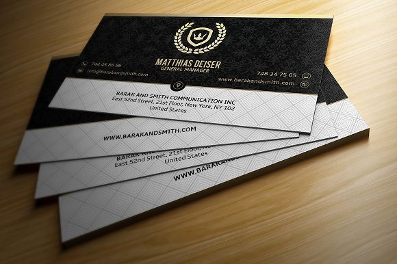 Black and Gold Business Cards Beautiful Gold and Black Business Card Business Card Templates