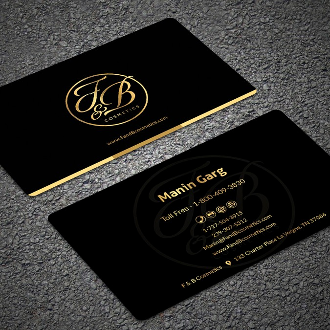Black and Gold Business Cards Best Of Black & Metallic Gold Business Cards