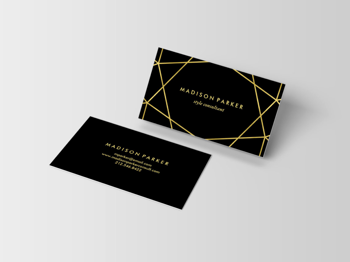 Black and Gold Business Cards Elegant 15 Trendy and Chic Business Cards that Will Your