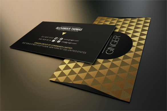 Black and Gold Business Cards Fresh 51 Cool Business Card Templates Word Pages Ai Psd