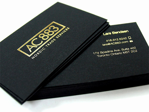 Black and Gold Business Cards Inspirational Impressive Hot Foil Stamped Business Cards You Should See