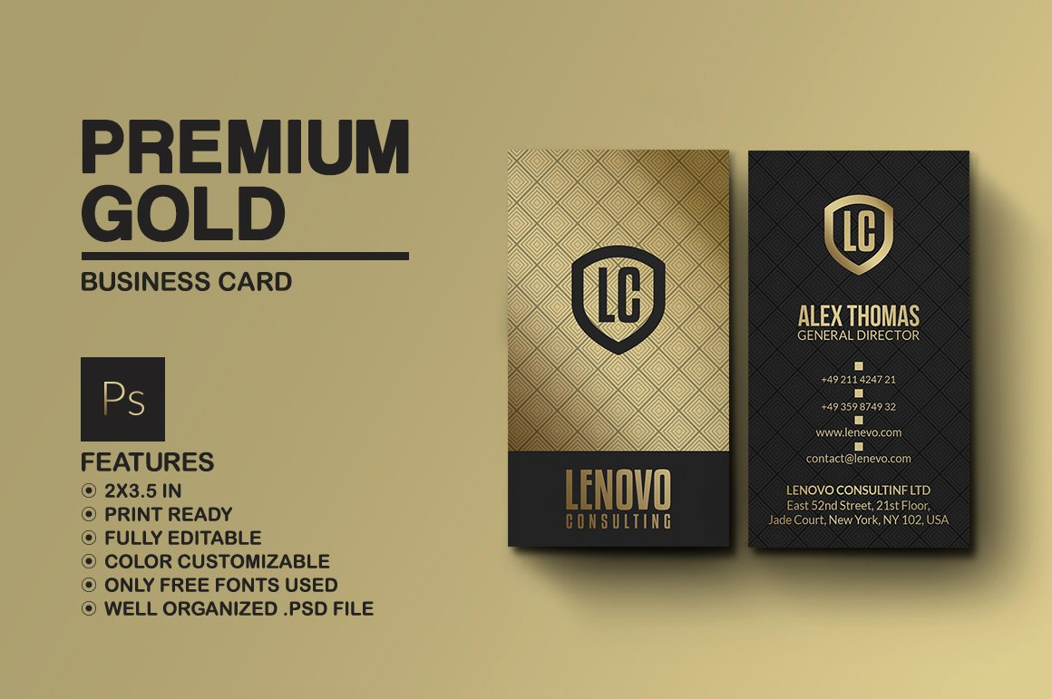 Black and Gold Business Cards Inspirational Premium Gold and Black Business Card Business Card