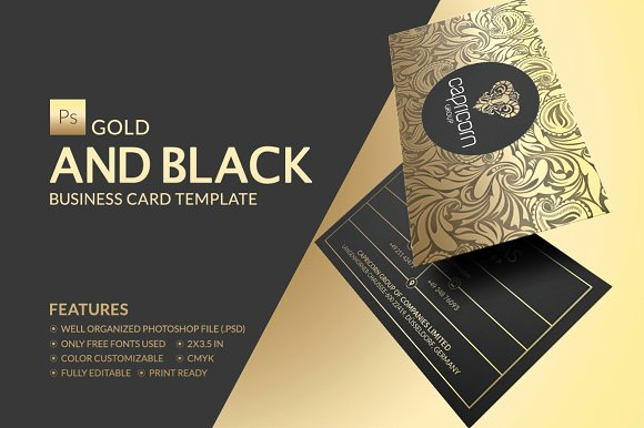 Black and Gold Business Cards Luxury Gold and Black Business Card Business Card Templates On