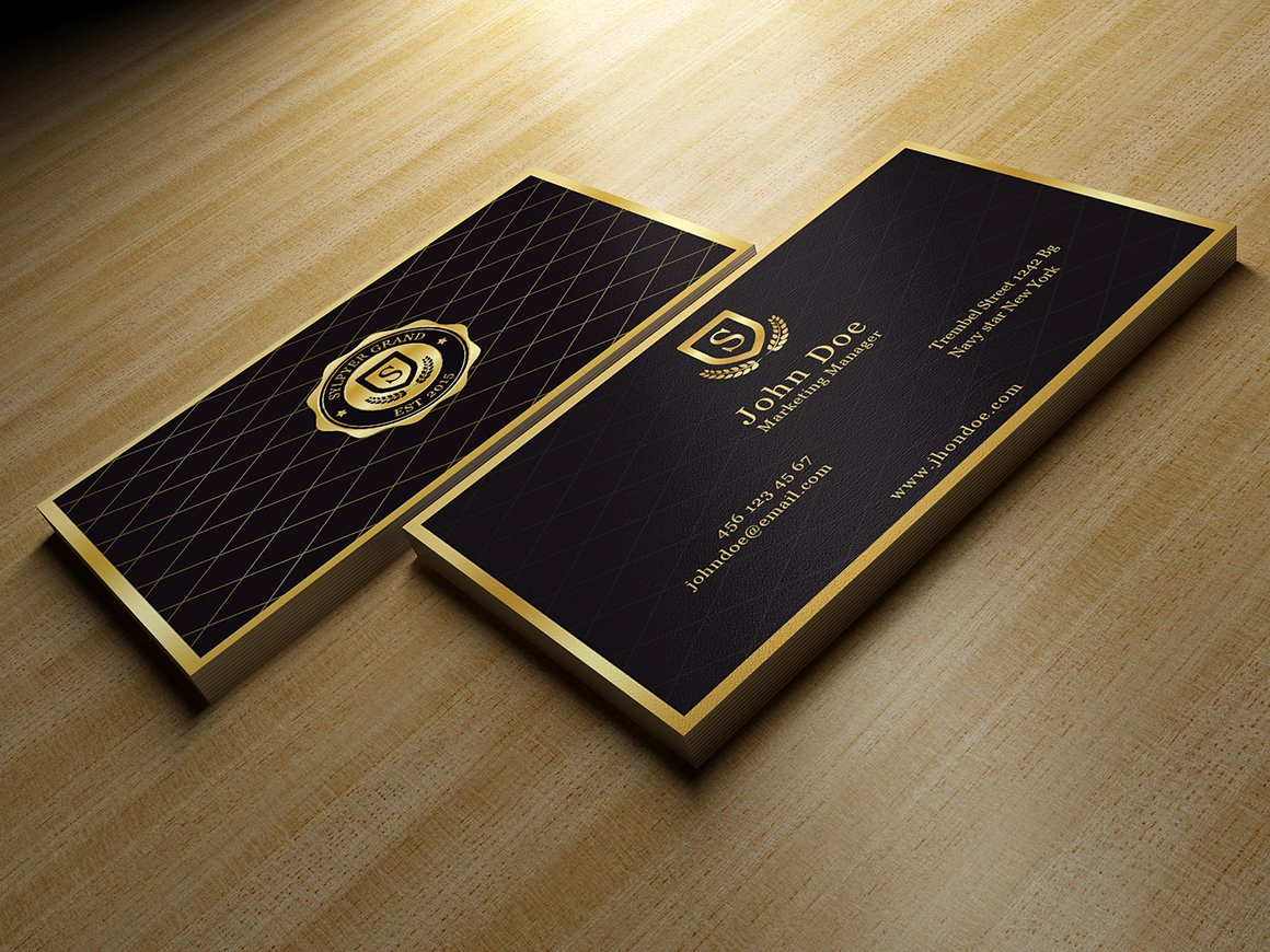 Black and Gold Business Cards New Gold and Black Business Card Business Card Templates