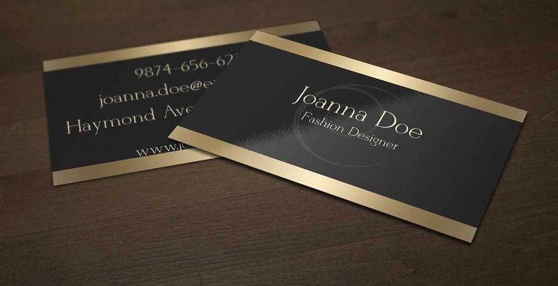 Black and Gold Business Cards Unique Elegant Black and Gold Business Card Template for Fashion