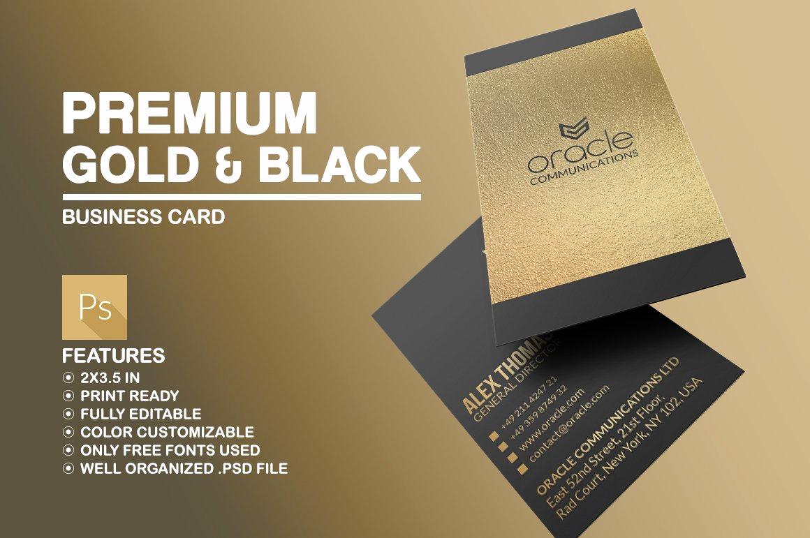 Black and Gold Business Cards Unique Premium Gold and Black Business Card Business Card