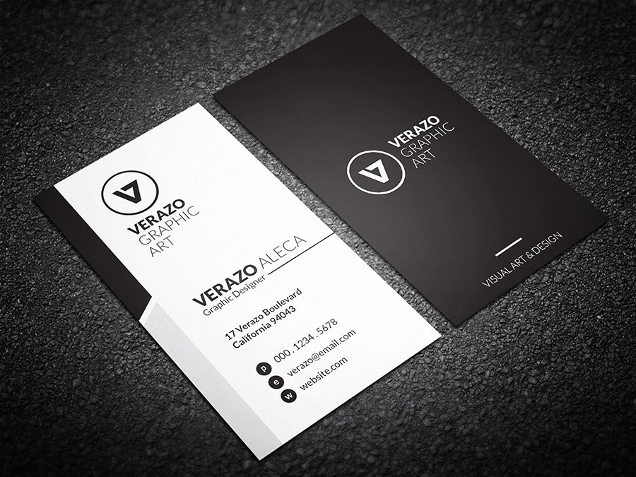 Black and White Business Cards Best Of Simple & Clean Business Card Business Card Templates