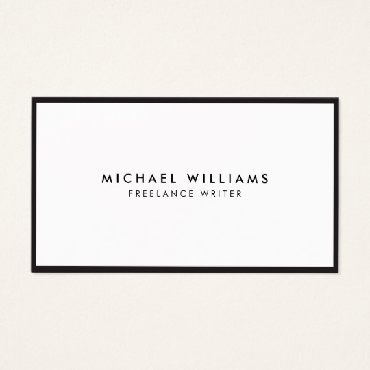 Black and White Business Cards Elegant Professional Black and White Business Card