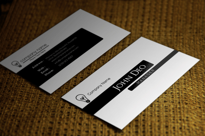 Black and White Business Cards Inspirational 20 Free Black and White Business Card Templates Designyep