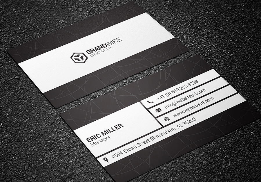 Black and White Business Cards Inspirational Black & White Business Card Bundle Graphic Pick