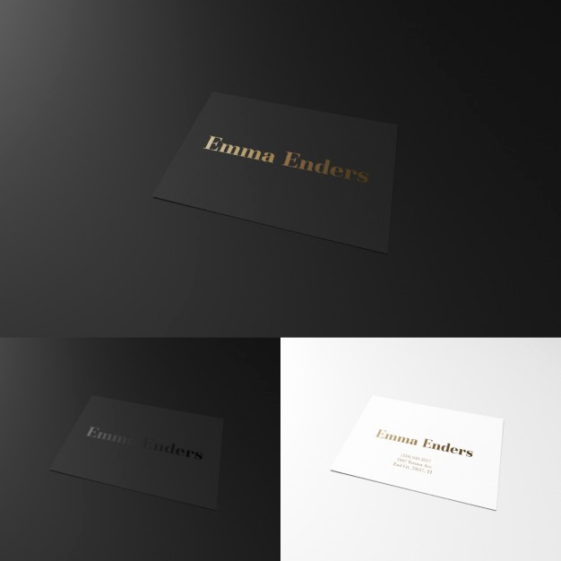 Black and White Business Cards Inspirational Elegant Black and White Business Card Psd File