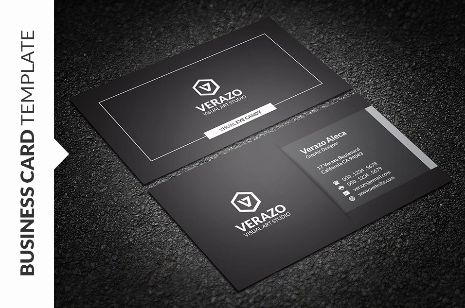 Black and White Business Cards Inspirational Modern Black & White Business Card Business Card