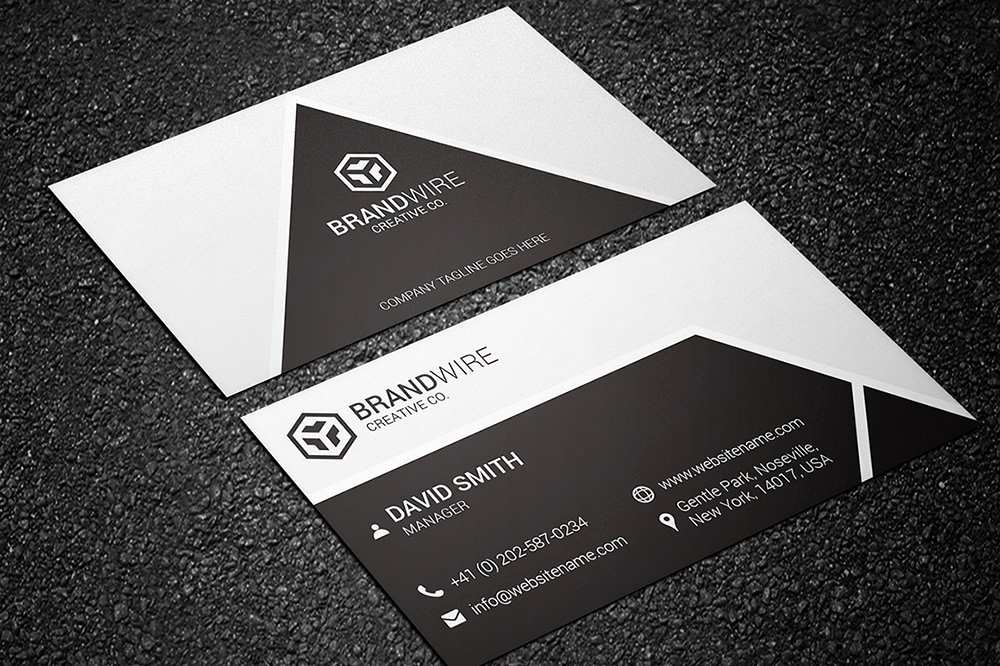Black and White Business Cards Lovely Black & White Business Card Business Card Templates