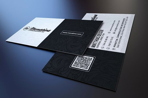 Black and White Business Cards Lovely Black and White Business Card Business Card Templates