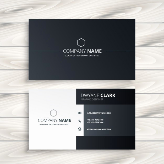Black and White Business Cards Lovely Black and White Business Card Vector