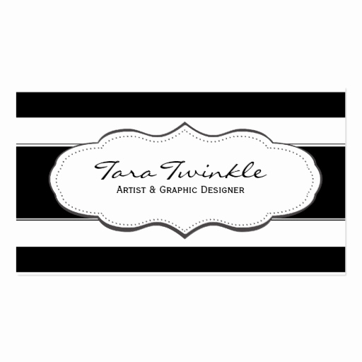 Black and White Business Cards Lovely Black and White Stripe Business Cards