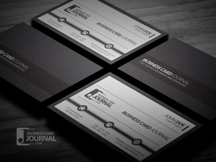 Black and White Business Cards Unique 10 Free Black & White Business Card Templates Psd