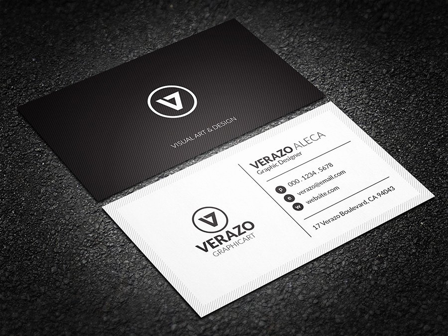 Black and White Business Cards Unique Minimal Black & White Business Card Business Card