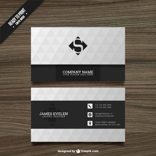 Black and White Business Cards Unique White and Black Business Card Vector