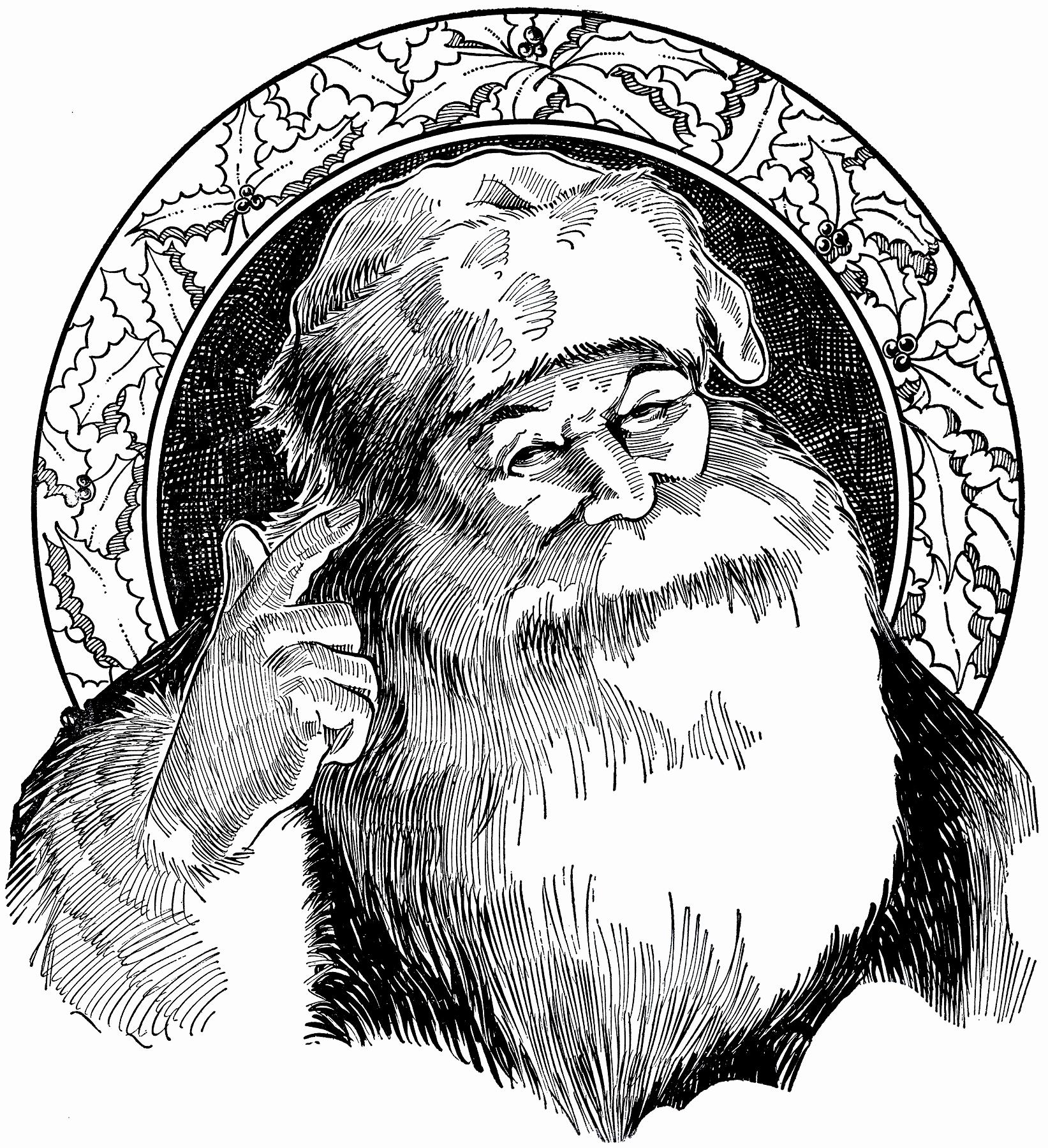 Black and White Illustration Awesome 6 Santa Illustrations Black and White the Graphics Fairy