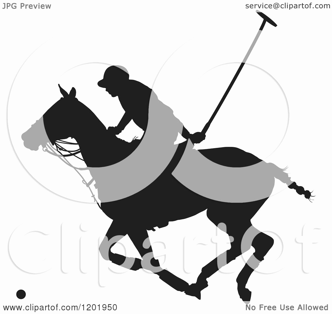 Black and White Illustration Inspirational Clipart Of A Black and White Silhouetted Horseback Polo