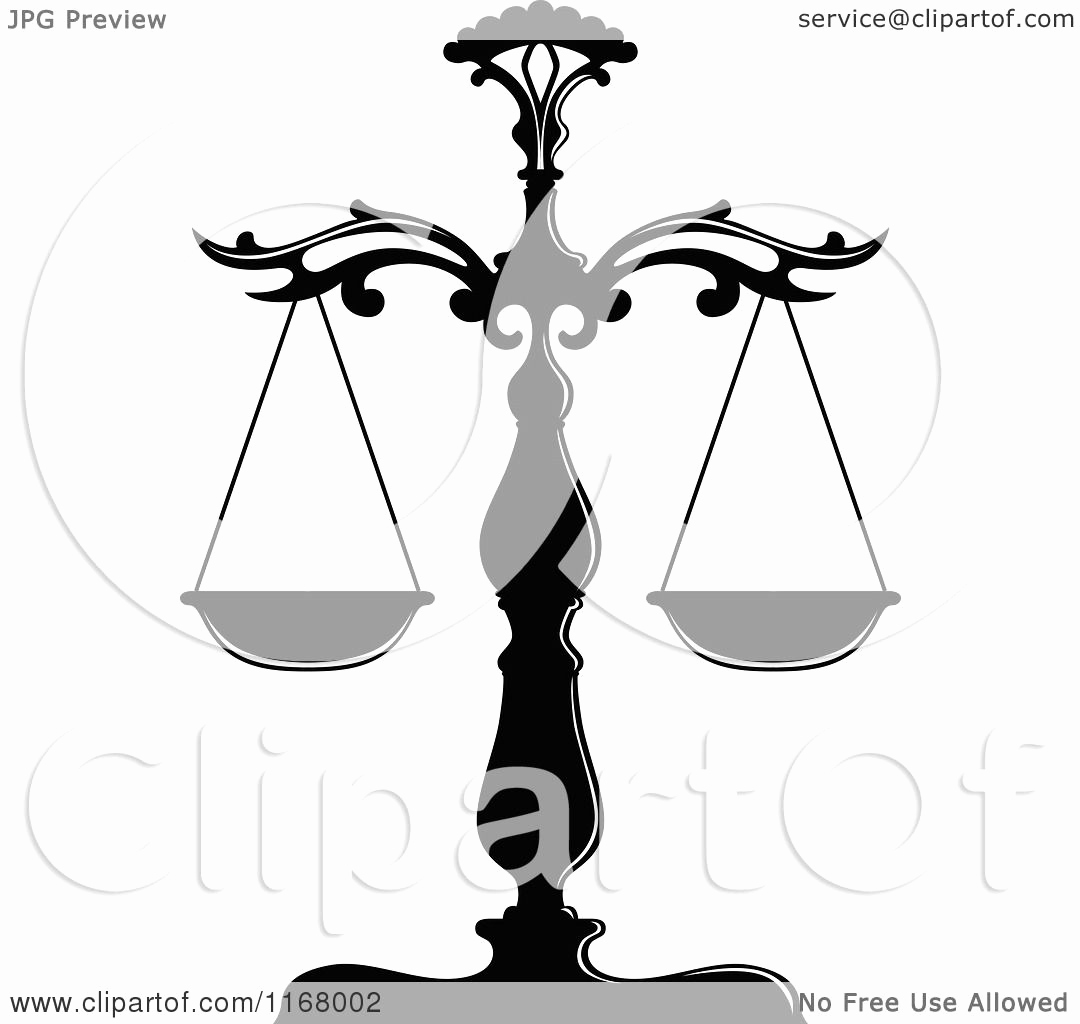 Black and White Illustration Inspirational Clipart Of Black and White Scales Of Justice Royalty