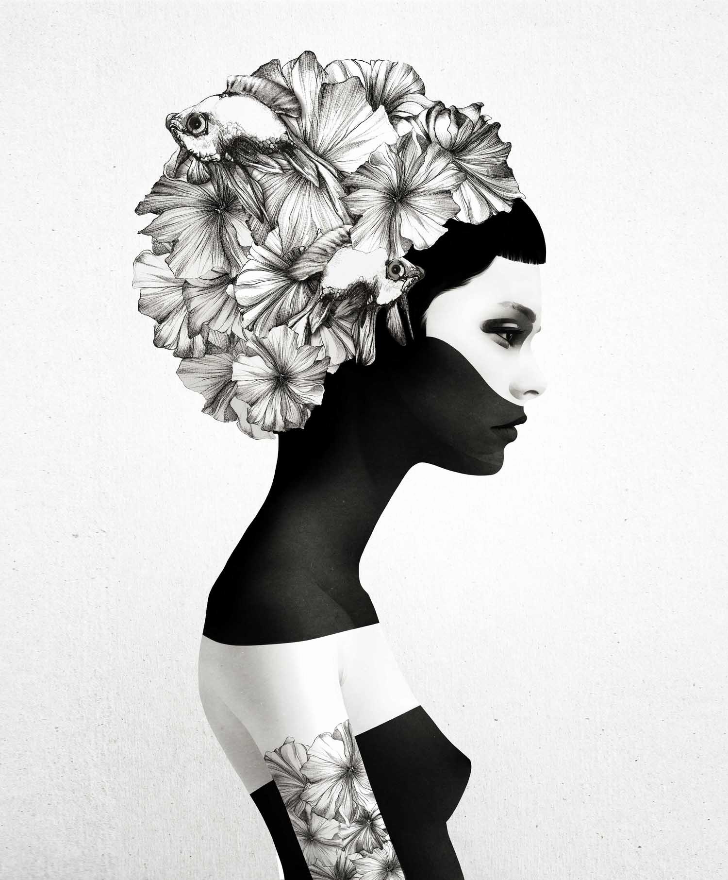 Black and White Illustration Lovely the Dark Imaginary World Of Ruben Ireland
