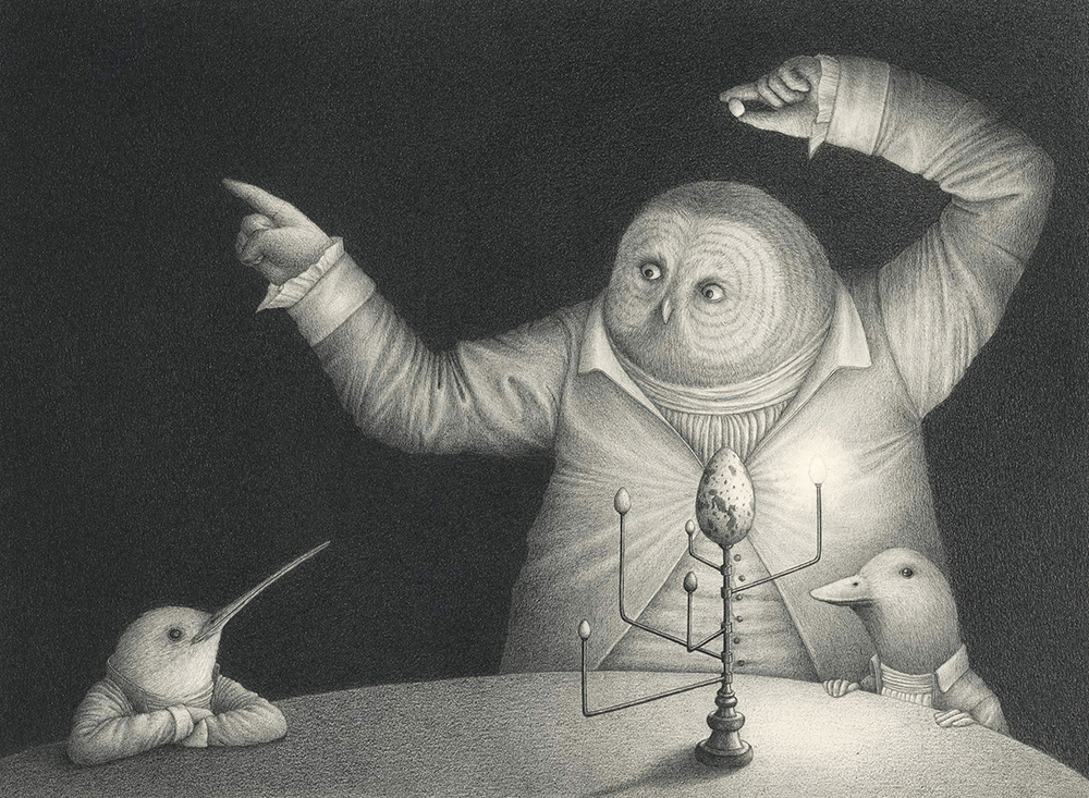 Black and White Illustrations Best Of the Black and White Anthropomorphic Illustrations Of David