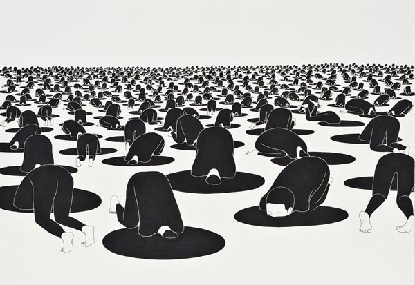 Black and White Illustrations Lovely Black and White Illustrations by Daehyun Kim
